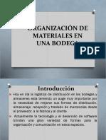 1.-Organizacion de Materiales en Una Bodega