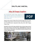 Alloy 20 Flanges Suppliers