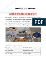 Monel Flanges Suppliers