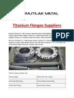 Titanium Flanges Suppliers