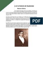 Próceres en La Historia de Guatemala