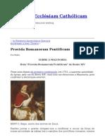 Provida Romanorum Pontificum
