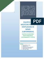 Equipos de Medicion Para La Ventilacion de Minas Subterraneas