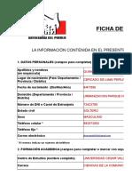 Ficha de Inscripcion Practicante 2017 02.Xlsx Jhon Quincho