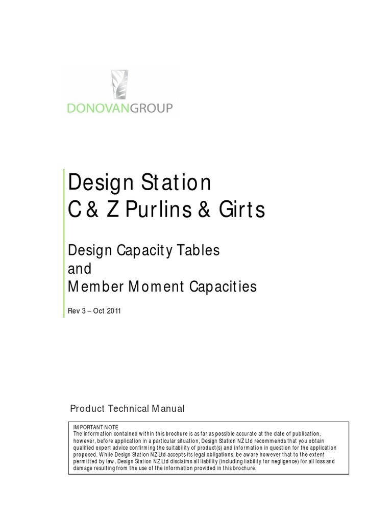 Microsoft Word - Design Station Purlins & Girts-Rev3 | Buckling