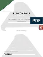 Ruby on Rails Initial Presentation