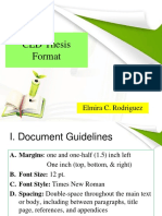 CED Proposed Thesis Format