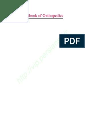 Orthopedic surgery basics pdf free
