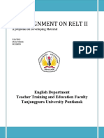 Example of Proposal for researching in  ELT