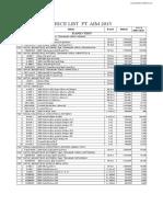 Price List Pt Aim Oktober 2015