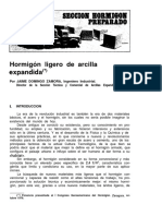Hormigon Ligero de Arcilla Expandida