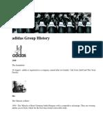 Adidas Group History