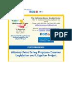 California-Mexico Studies Center - Peter Schey Proposes Dreamer Legislation and Litigation Project.pdf