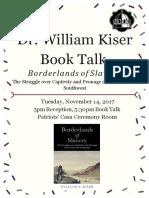 Flyer-BookTalkBillyKiser(11-14-2017).pdf