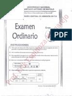 Unasam Examen Ordinario 2017 - II (Protegido)