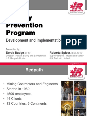 Fatality Prevention Program: Development and Implementation