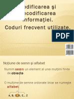 Codificarea Si Decodificarea Mesajelor in Sistemele de Transmisie a Informaiei