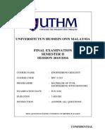 Final Examination BFC 21303 SEM21516