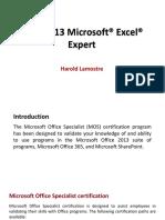 Managing Excel