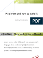 Plagiarism and How to Avoid ItAW