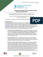 2018 MWF Application Instructions
