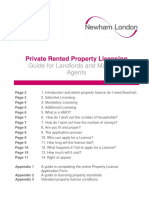 Newham Property Licensing Guide