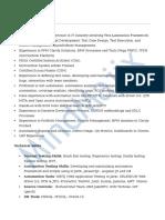 ServiceNow Sample Resume 3