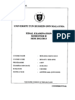 BFB+40703 Building Services UTHM