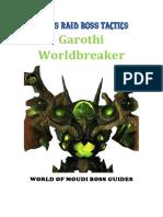 Garothi Worldbreaker Tactics - Patreon Member