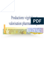 Productions Vegetales Et Valorisation Pharmaceutique