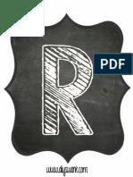 Printable Chalkboard Letter R