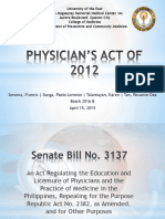 Physicians Act of 2012
