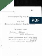 Zur Germanieserung Der Kirche Aus Dem Mittelalterlichen Festkalender