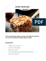 Kefalonian Lamb Pie