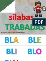 Las Silabas Trabadas en Tarjetas