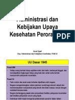 Administrasi Dan Kebijakan Upaya Kesehatan Perorangan Prof. Amal