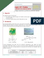 TP - Spectroscopie UV-Visible