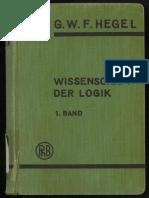 Hegel  - Wissenschaft der Logik  - Band 01