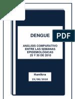 Dengue Análisis Comparativo Semanas Epidemiológicas  25 y 30
