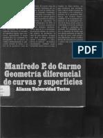 Geometría Diferencial de Curvas y Superficies - Manfredo P. Do Carmo
