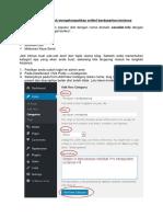 Membuat Kategori Untuk Mengelompokkan Artikel Berdasarkan Jenisnya