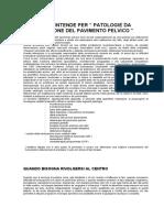 Varie patologie del pavimento pelvico