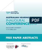 Australian Hearing Hub Free Paper Abstracts