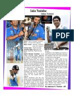 About Sachin Tendeulkar