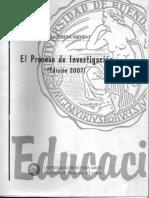 SIRVENT M. T. El Proceso de Investigacion