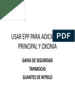 Usar Epp Para Adicion de Principal y Oxonia