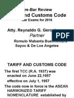 Reviewer Tariff Customs