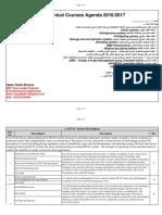 Mechanical Course Agenda Brief 2017