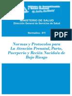 I Normas y protocolo para la atencion prenantal, parto puerperio.pdf