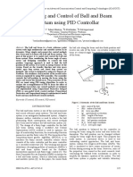 Modelling and Control of Ball and Beam System Using PID Controller